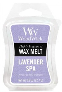 Wosk klepsydra WoodWick - Lavender SPA - Lawendowe SPA