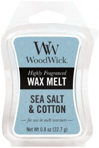 Wosk klepsydra WoodWick Wax Melt - Sea salt & Cotton