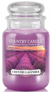 Świeca zapachowa Country Candle Large 2 knoty - Country Lavender - Lawendowe Pola