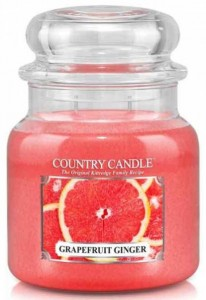 Świeca zapachowa Country Candle Medium 2 knoty - Grapefruit Ginger - Grejpfrut z Imbirem