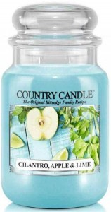 Świeca zapachowa Country Candle Large 2 knoty - Cilantro, Apple & Lime