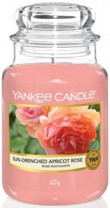 Świeca zapachowa Yankee Candle DUŻA -  Sun-Drenched Apricot Rose