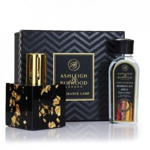 Midnight Collection Exclusive - Gold - Zestaw Duża Lampa Zapachowa z olejkiem Moroccan Spice 250ml
